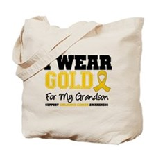 I Wear Gold Grandson Tote Bag