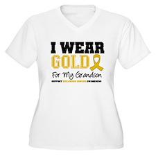 I Wear Gold Grandson T-Shirt