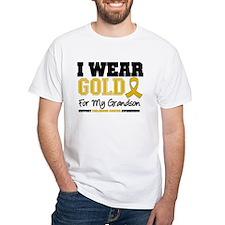 I Wear Gold Grandson Shirt