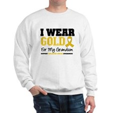 I Wear Gold Grandson Sweatshirt