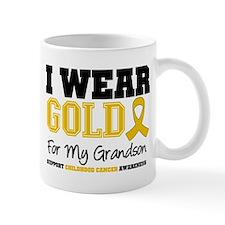 I Wear Gold Grandson Mug