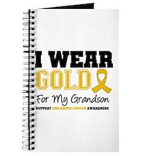I Wear Gold Grandson Journal