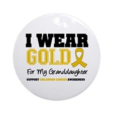 IWearGold Granddaughter Ornament (Round)