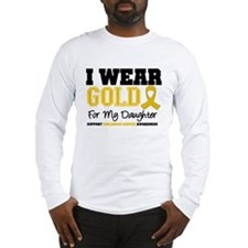 I Wear Gold Daughter Long Sleeve T-Shirt