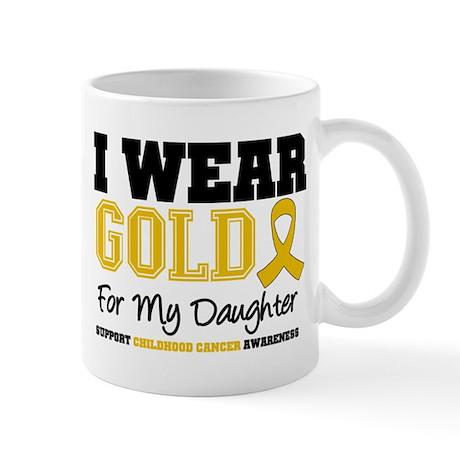 I Wear Gold Daughter Mug