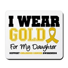 I Wear Gold Daughter Mousepad