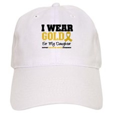 I Wear Gold Daughter Baseball Cap