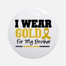 IWearGold Brother Ornament (Round)