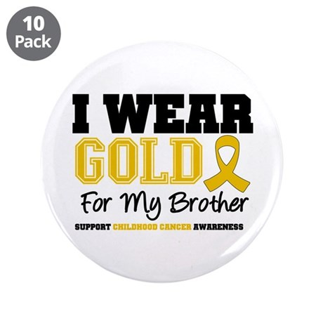 """IWearGold Brother 3.5"""" Button (10 pack)"""