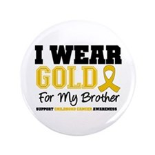"""IWearGold Brother 3.5"""" Button (100 pack)"""