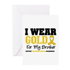 IWearGold Brother Greeting Cards (Pk of 10)
