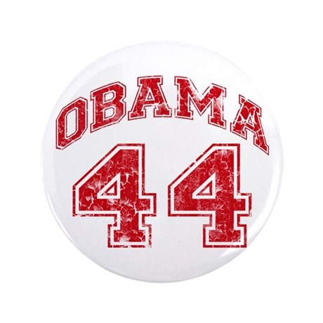 """Obama 44 Jersey Style 3.5"""" Button (100 pack)"""
