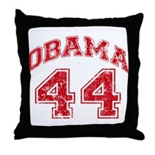 Obama 44 Jersey Style Throw Pillow