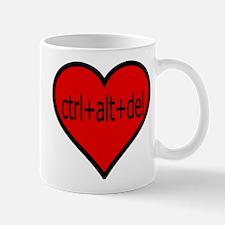 CTRL+ALT+DEL Heart Mug