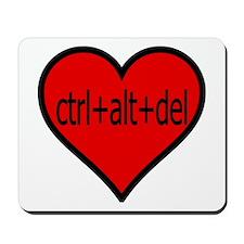 CTRL+ALT+DEL Heart Mousepad