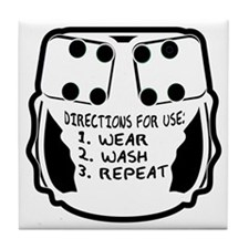 Wear, Wash, Repeat... Tile Coaster