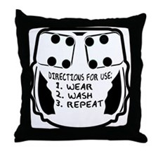 Wear, Wash, Repeat... Throw Pillow