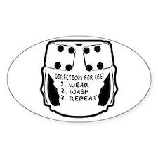 Wear, Wash, Repeat... Oval Bumper Stickers