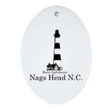 Bodie Lighthouse Oval Ornament