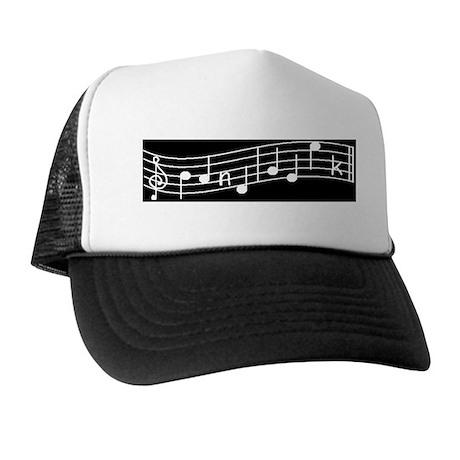 White Treble Cleft Trucker Hat
