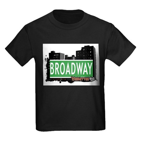 BROADWAY, MANHATTAN, NYC Kids Dark T-Shirt