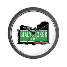 BIALYSTOKER PLACE, MANHATTAN, NYC Wall Clock