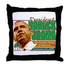 Obama Inaugration - Environme Throw Pillow