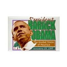 Obama Inaugration - Environme Rectangle Magnet