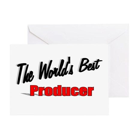 """The World's Best Producer"" Greeting Card"