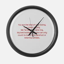 Club-toting Large Wall Clock