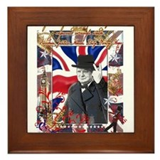 Winston Churchill Framed Tile