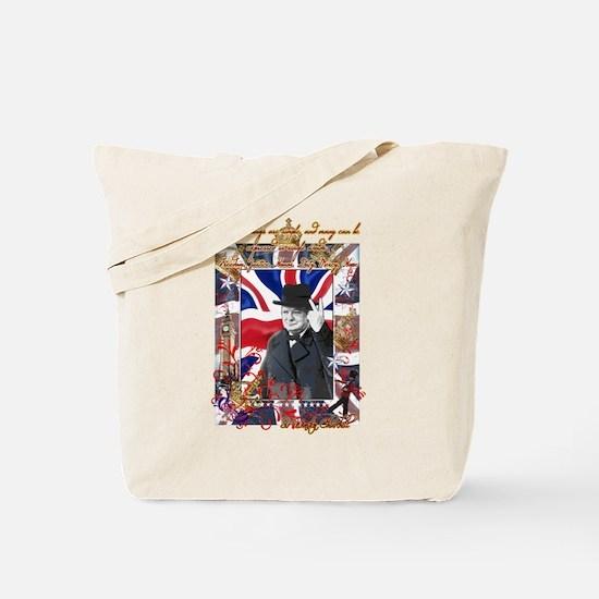 Winston Churchill Tote Bag