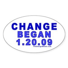 Change Began 1.20.09 Oval Decal