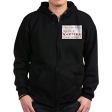I'm in love with a vampire Zip Hoodie