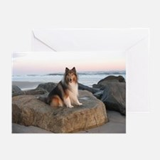Collie on the Rocks Greeting Cards (Pk of 10)