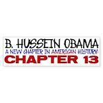 B. Hussein Obama - Chapter 13 Sticker (Bumper 10 p