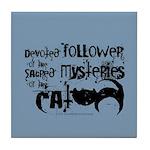 Cat devotion Tile Coaster