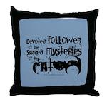 Cat devotion Throw Pillow