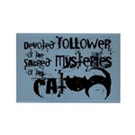 Cat devotion Rectangle Magnet (100 pack)