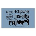 Cat devotion Rectangle Sticker
