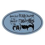 Cat devotion Oval Sticker