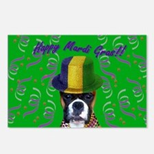 Mardi Gras Boxer Postcards (Package of 8)