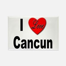I Love Cancun Rectangle Magnet