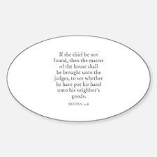 EXODUS 22:8 Oval Decal