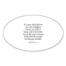 EXODUS 22:7 Oval Decal