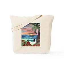Brunette Mermaid Tote Bag