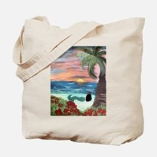 Brunette Mermaid Tote Bag