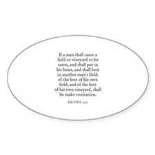 EXODUS 22:5 Oval Decal