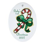 Baby's First Christmas 2007 Oval Ornament