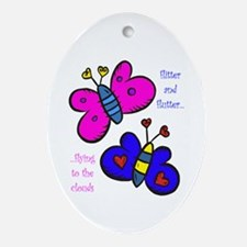 Butterflies Oval Ornament
